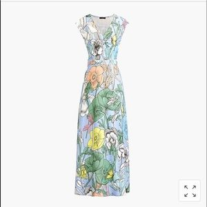 J. crew pastel floral maxi dress